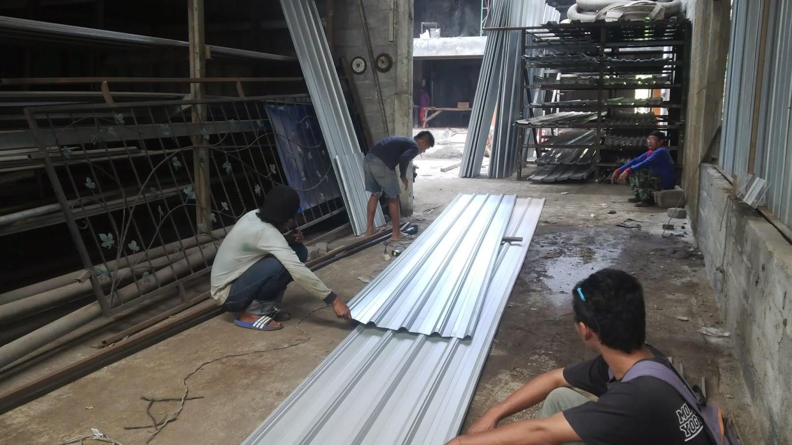 kanopi baja galvanis kontraktor yogyakarta: tukang las jogja