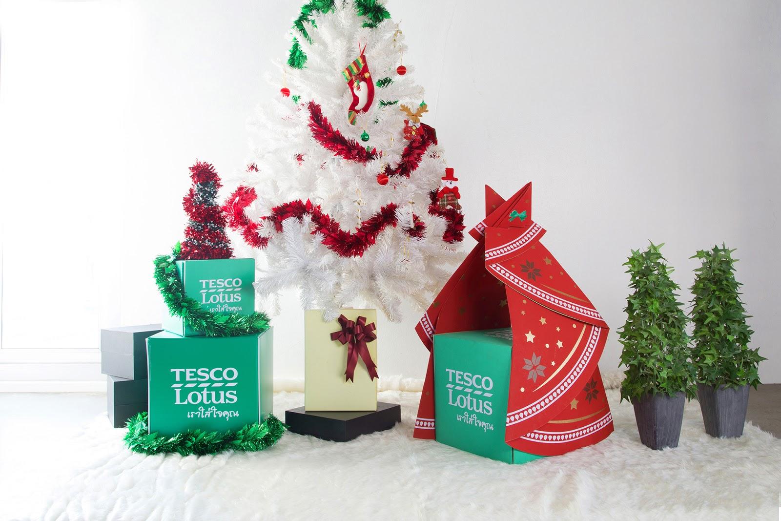 Tesco Lotus Christmas Tree Gift Set Box on Packaging of ...