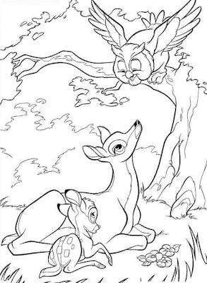 Gambar Mewarnai Bambi - 8