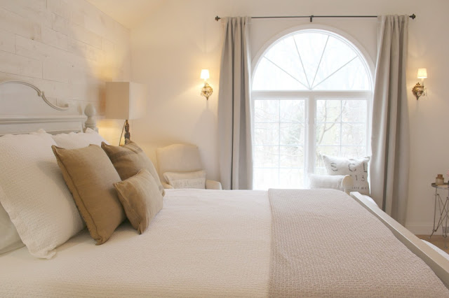 Nordic farmhouse style in master bedroom of Hello Lovely Studio fixer upper