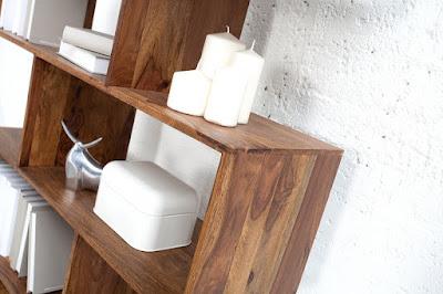 masivní nábytek Reaction, designový nábytek, police z masivu
