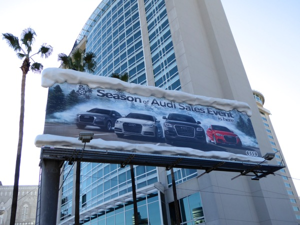 Special snowy Season of Audi Sales Event billboard installation