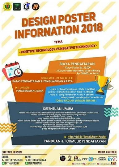 INFORNATION 2018 Lomba Desain Poster SMA Sederajat & Mahasiswa di UNRAM
