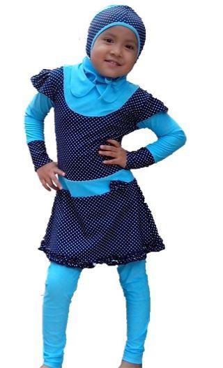 Contoh Baju Renang Anak Muslim