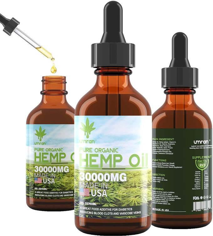 UMRAN Hemp Oil for Anxiety Relief    80%OFF