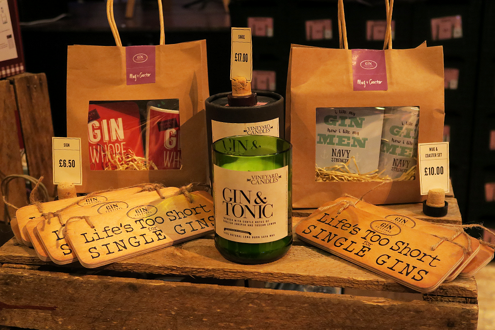 Gin themed gifts at the Gin Festival Leeds 2016