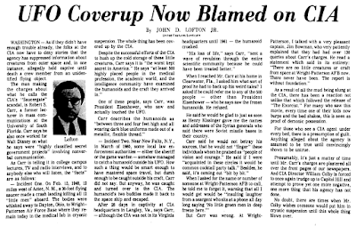 UFO Cover-Up Now Blamed On CIA - The Victoria Advocate 2-12-1975