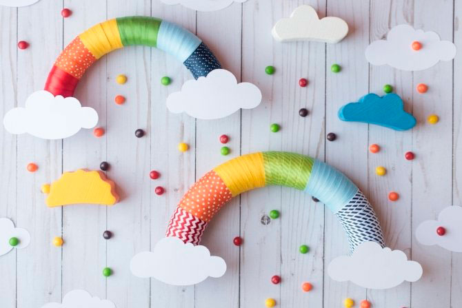 DIYs de arco iris o rainbow