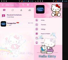 BBM MOD Hello Kitty Strandart Versi Lama
