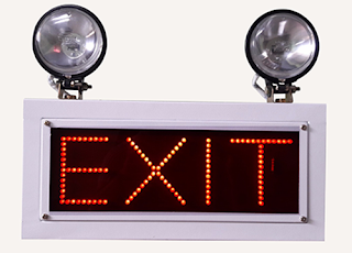 industrial Emergency Light exit sign