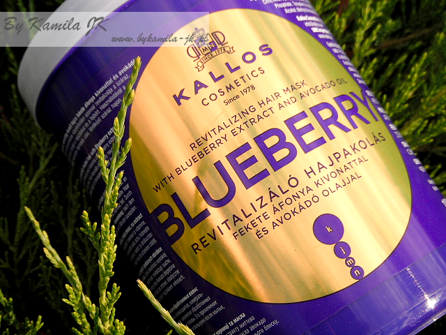 Kallos maska Blueberry jagodowa borówkowa mycie włosów odżywką maską