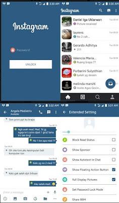 BBM Mod Tema Instagram Apk Terbaru