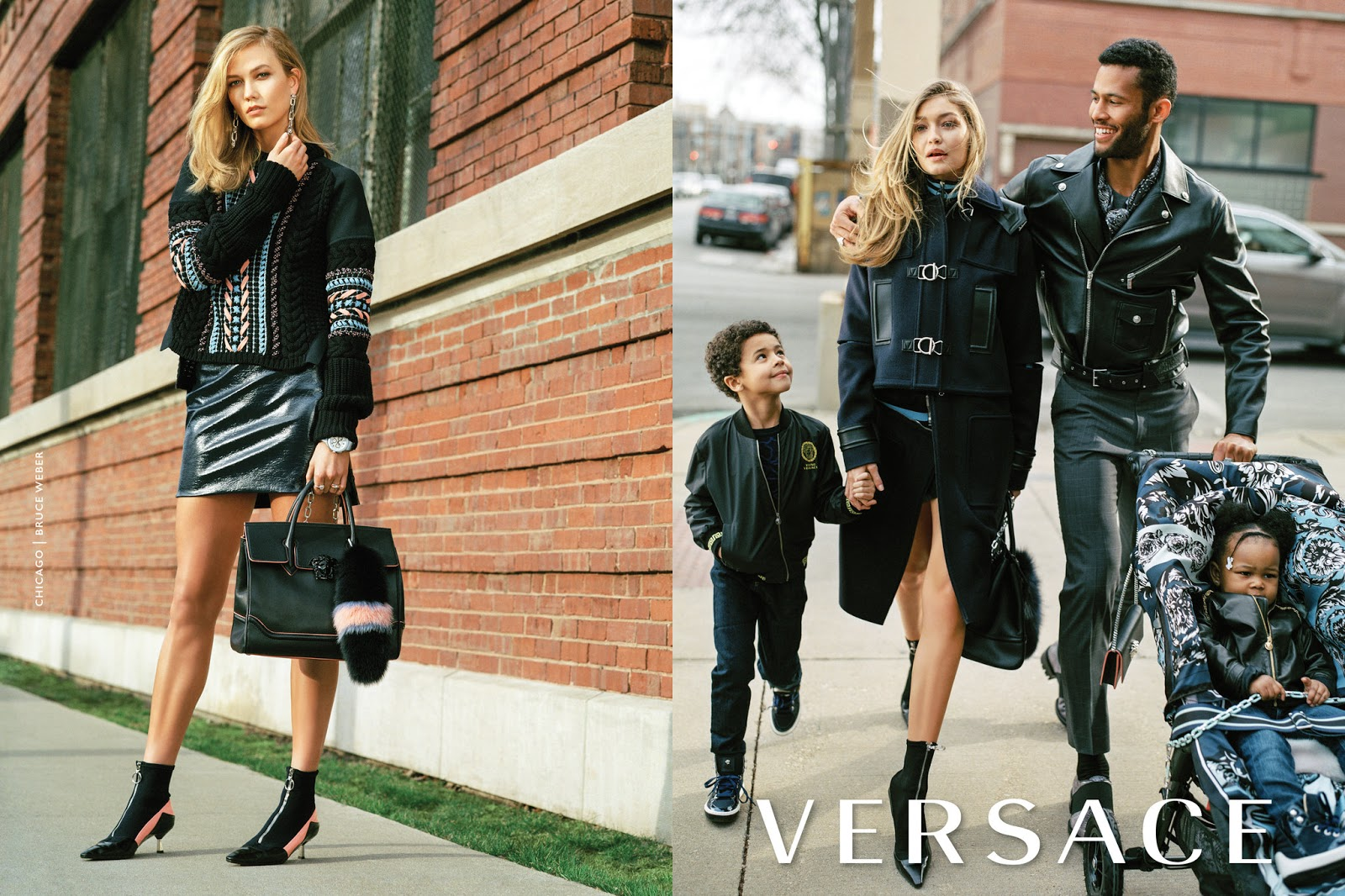 Karlie, Gigi & Janiece for Versace Autumn/Winter 2016 Full Campaign