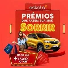 Cadastrar Promoção Eskala Dia das Mães 2019 Carro 0KM e 10 Mil Vales-Compras