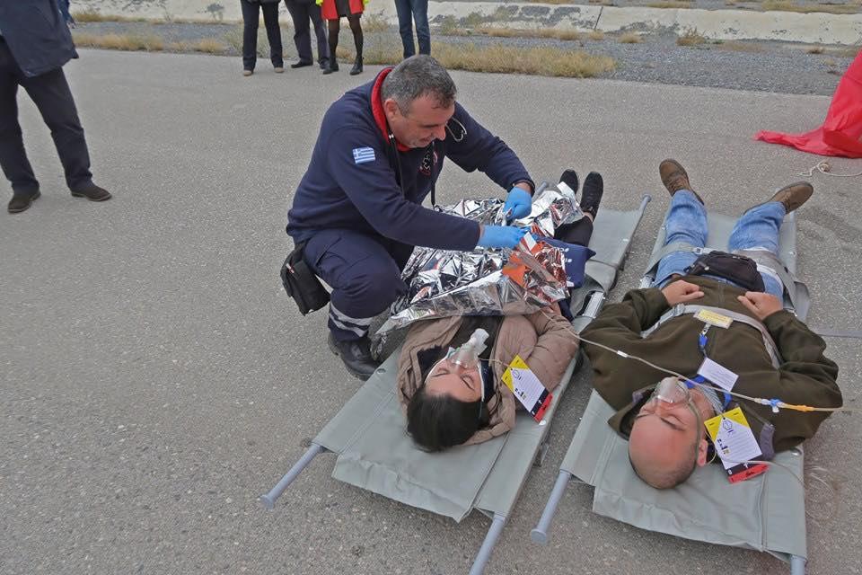 Άσκηση στο Αεροδρόμιο «Μακεδονία» με 80 θύματα. (ΦΏΤΟ)
