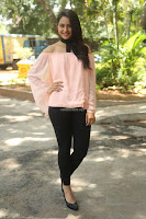 Rakul Preet Singh in lovely Pink Crop Top and Black Trousers at Jaya Janaki Nayaka success meet 075.JPG