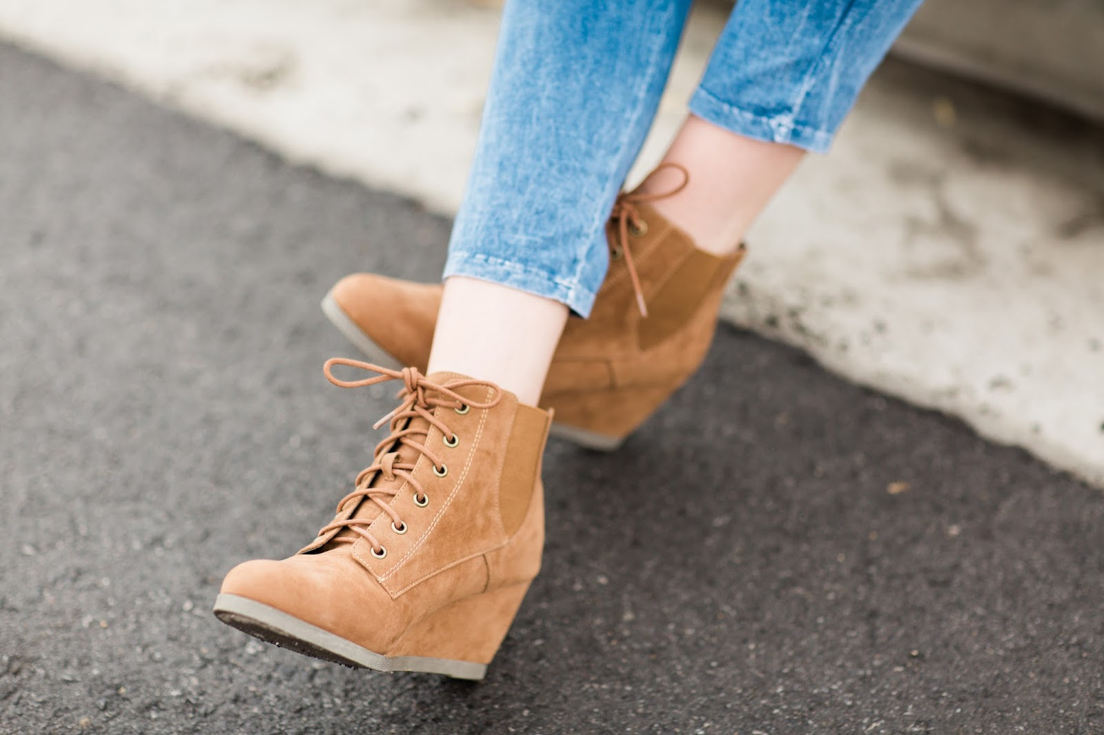 Lace Up Wedges, Ross, Utah Fashion Blogger