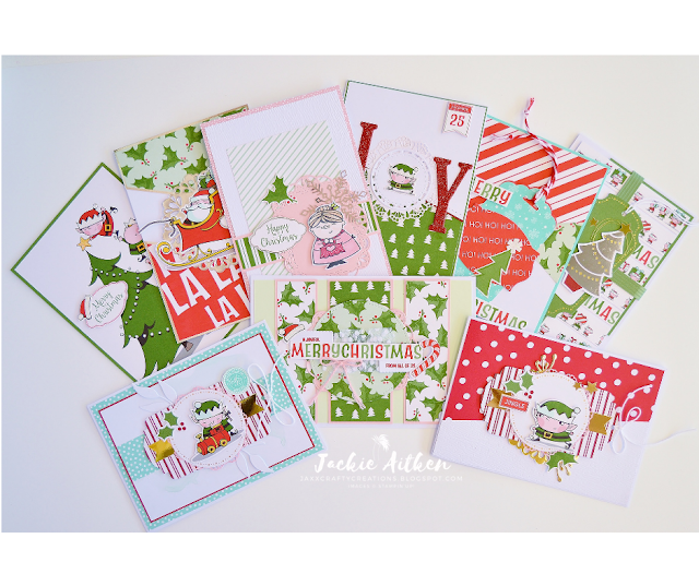 Stampin'Up!, Santa's Workshop Memories & More Card Pack, Christmas Cards, Christmas Elves, Jaxx Crafty Creations