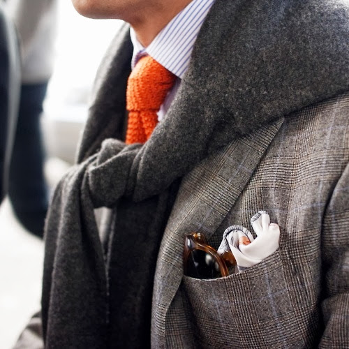 stylish pocket square and eye glasses