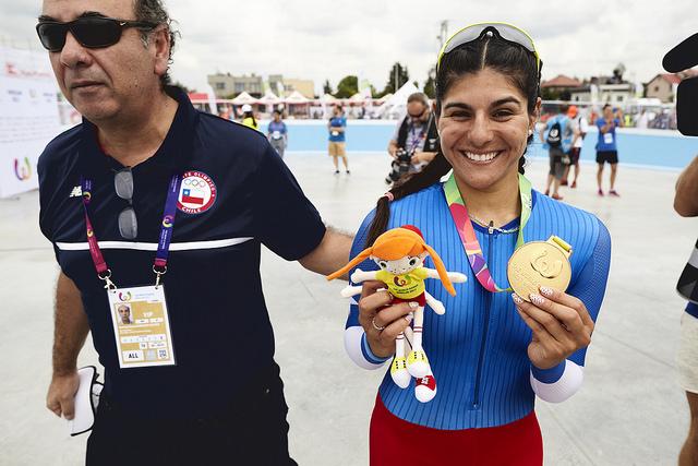 María Moya dio a Chile su primer oro en los Juegos Mundiales de Breslavia 2017 al ganar en el patinaje sobre ruedas