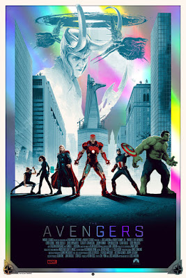 The Avengers Movie Foil Edition Screen Print by Matt Ferguson & Grey Matter Art
