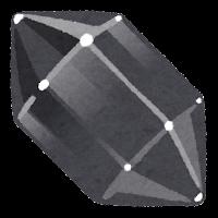 鉱石のイラスト(黒)