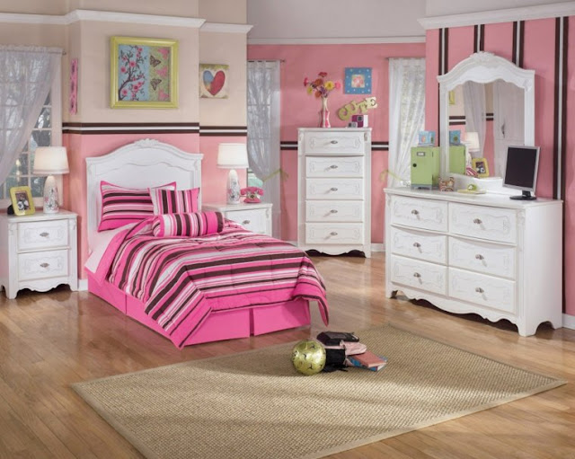 Modern Cool Teenage Girl Bedrooms With The Colour Pink
