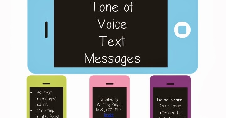 Listen To Text Messages >> Bright Ideas SLP: Tone of Voice Text Messages