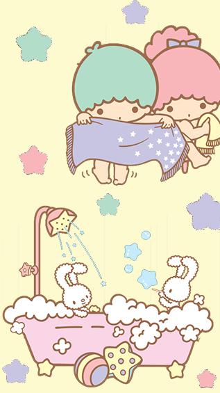 My Cute Fonts Freebie Little Twin Stars Wallpaper