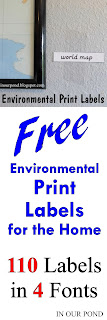 FREE Environmental Labels for the Home from In Our Pond