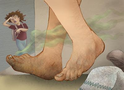 kaki berbau gunakan garam bukit, kaki busuk dan garam bukit