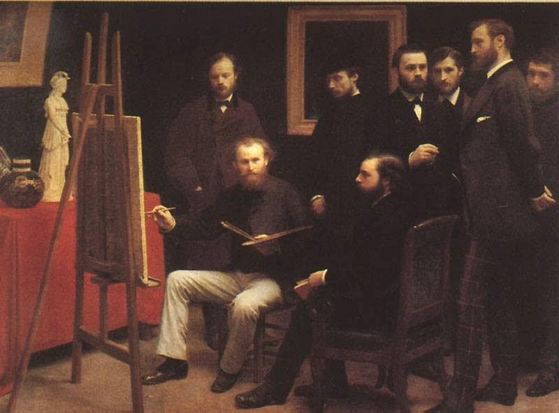 Atelier em Batignolles - Henri Fantin-Latour - Suas melhores pinturas ~ francês