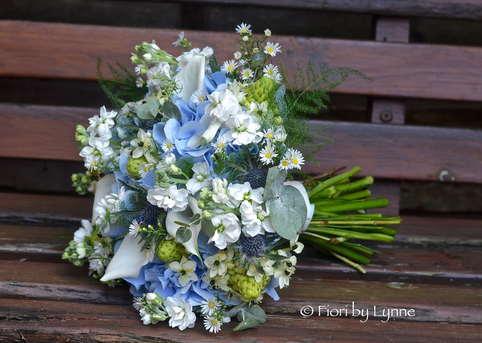 Wedding Flowers Blog: Jennie's Rustic Blue, Silver And