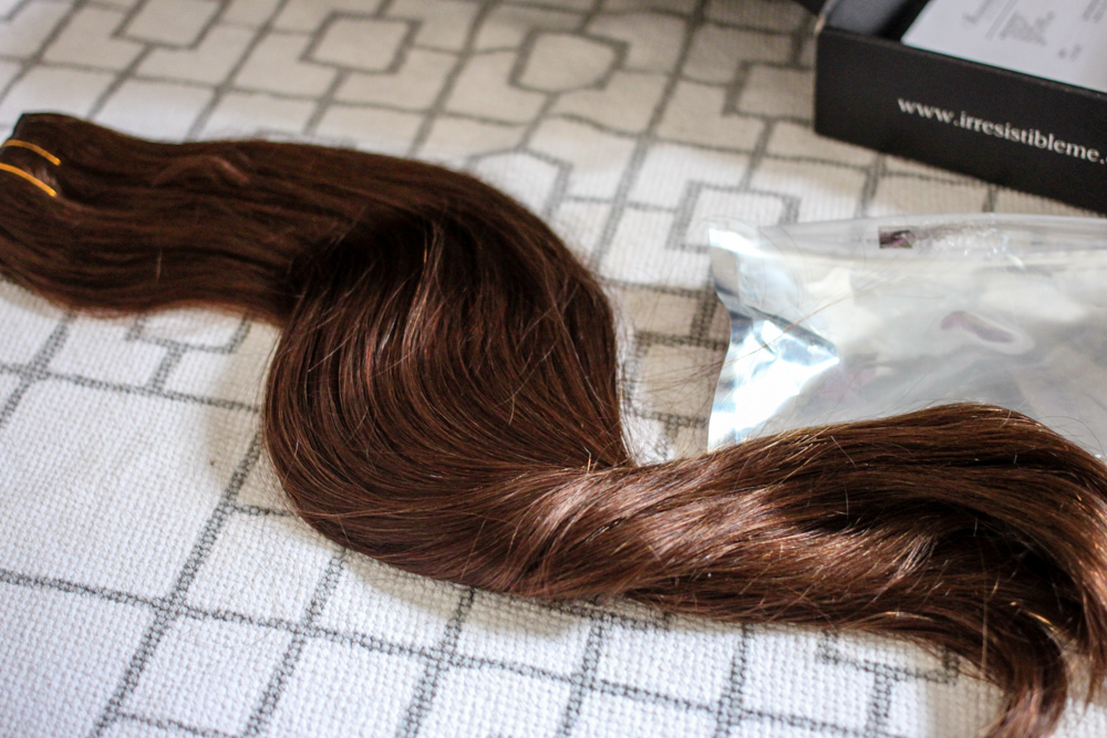 Real hair extensions from Irresistible Me Review | www.hannahemilylane.com