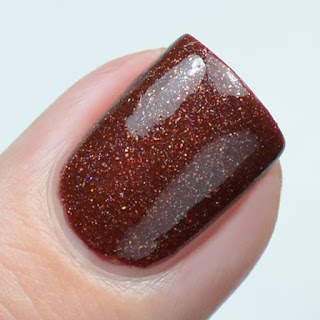umber holo nail polish