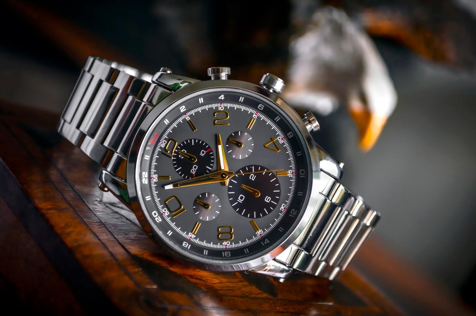 cool metallic wrist watch