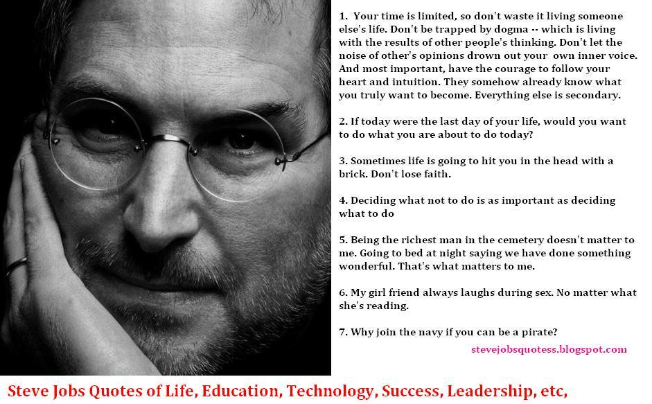 Steve Jobs Quotes On Life Magnificent 34 Inspirational Steve Jobs Quotes And Biography No One Tell You
