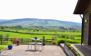 View from patio of Ballinabehy mountain Leitrim