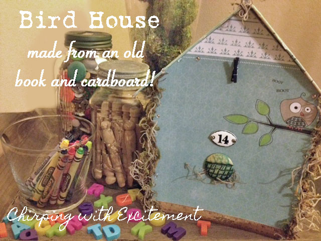 Chirping with Excitement Making a Birdhouse  with a Book