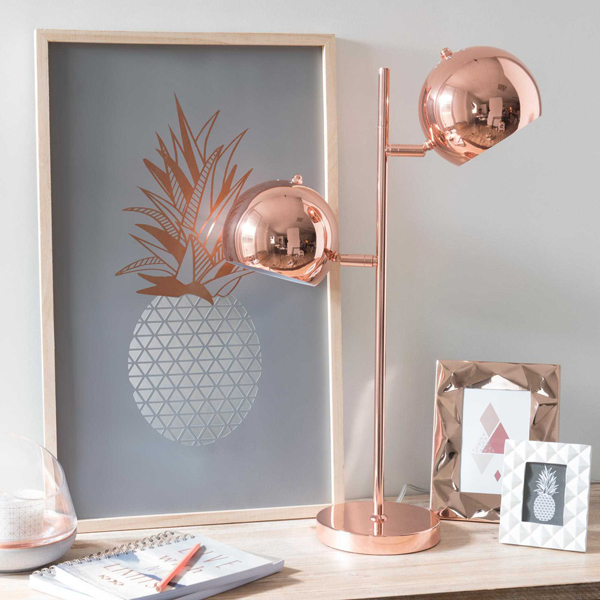 Print Pattern Maisons Du Monde Modern Copper - Lampe Rose Gold ...