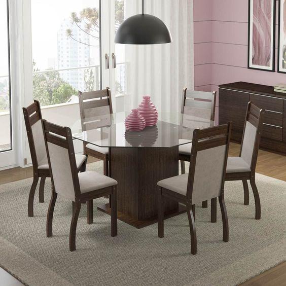 mesa-jantar -diferente-tampo-hexagonal