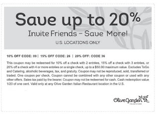 Printable Olive Garden Coupons 4 Off Worksheet Coloring Pages