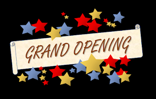 a Grand Opening banner