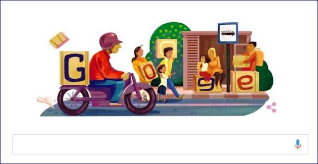Mudik Lebaran 2016 Jadi Tema Google Doodle Hari Ini