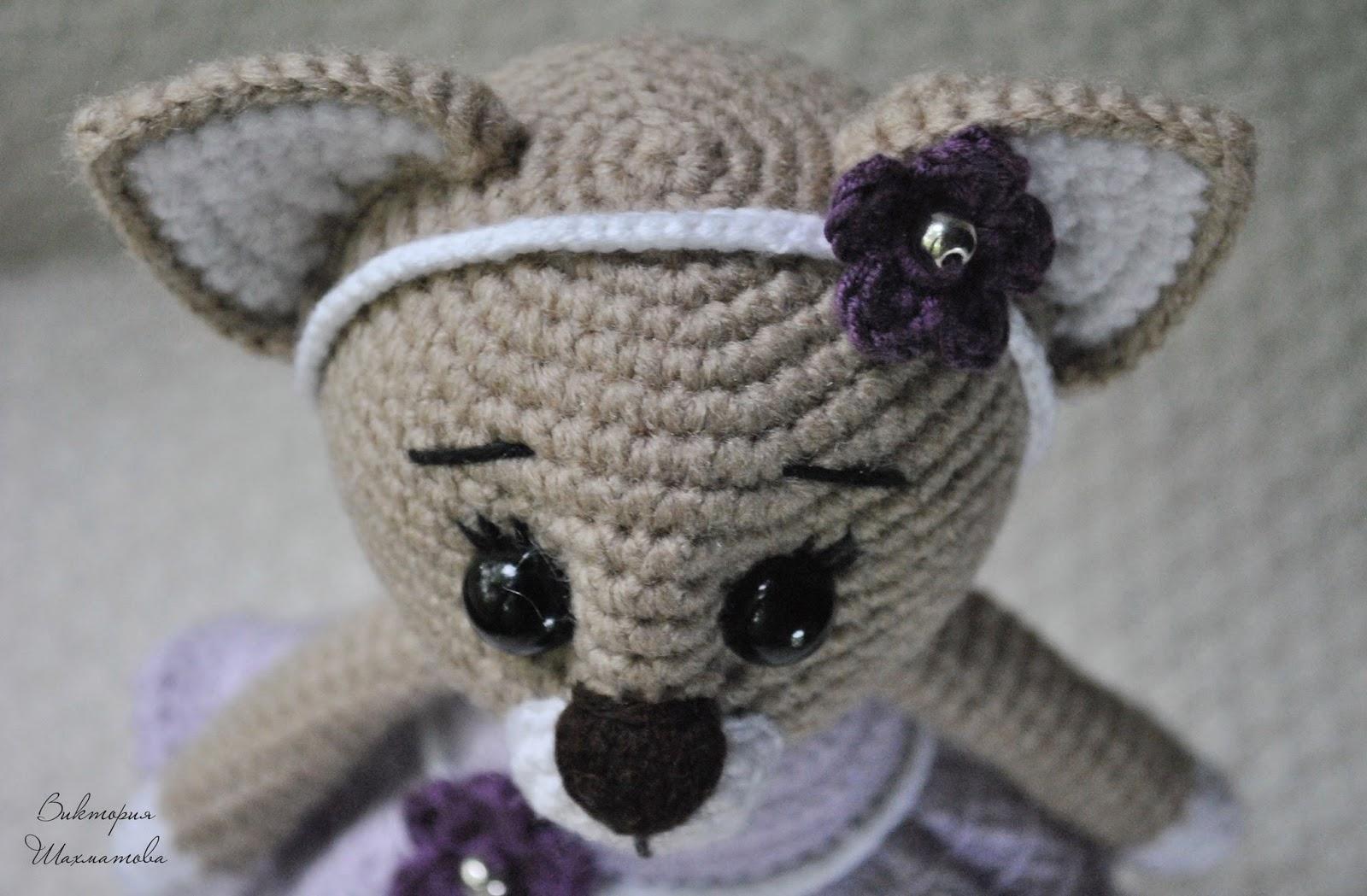 Кошечка в платье мастер-класс крючком | AmiguRoom