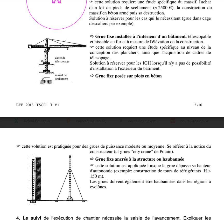 Exercice corrig pour technicien gros oeuvre b timent tsgo for Assainissement cours pdf