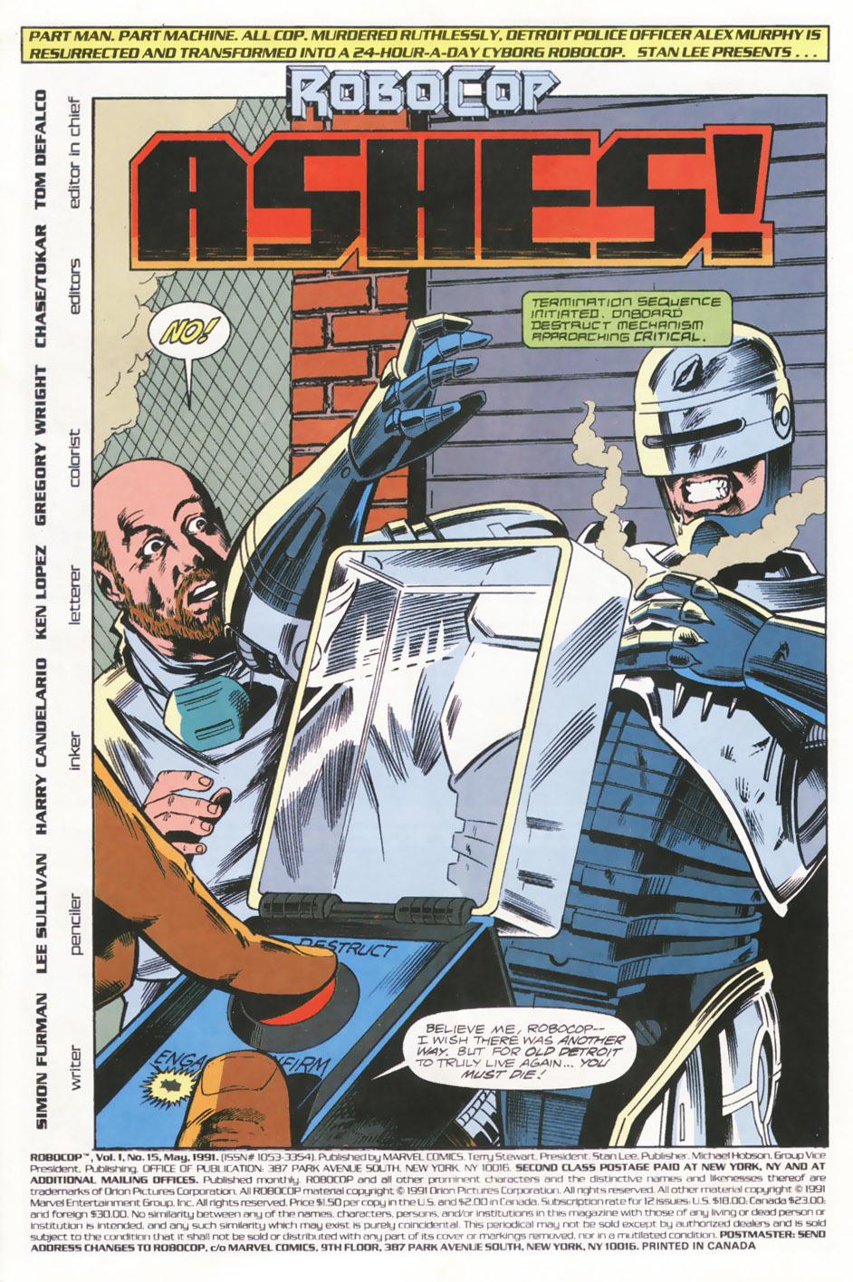Read online Robocop (1990) comic -  Issue #15 - 2