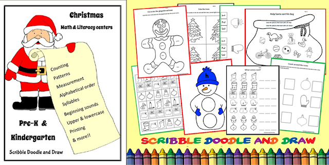 Christmas-printables-for-literacy-and-math-for-kindergarten-and-preschool-centers