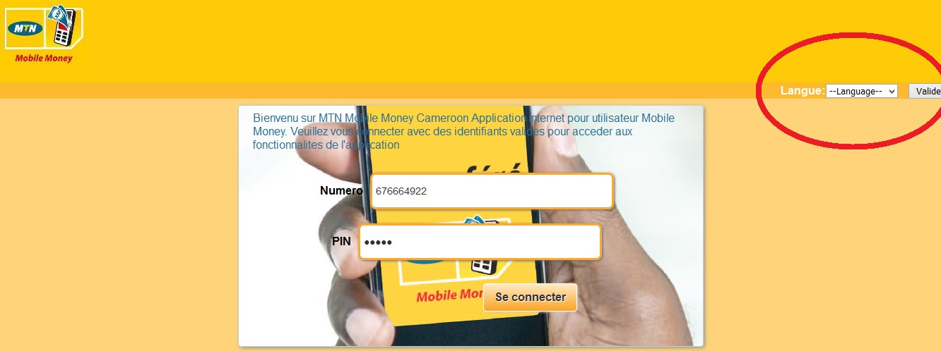 How to use MTN Mobile Money Online Cameroon: Web Login - RANSBIZ