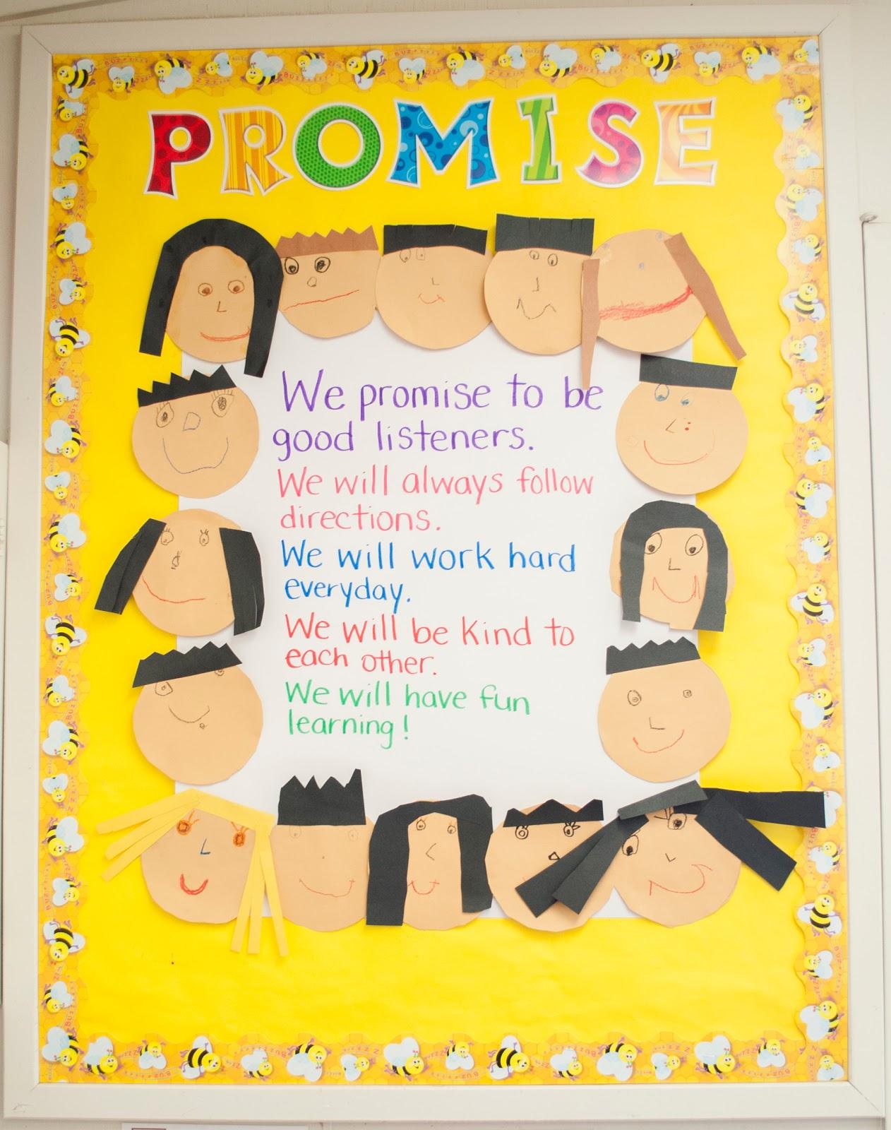 Class+Promise - Kindergarten Class Rules